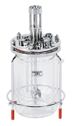 3L jacketed glass bioreactor