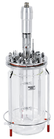 7L jacketed glass bioreactor