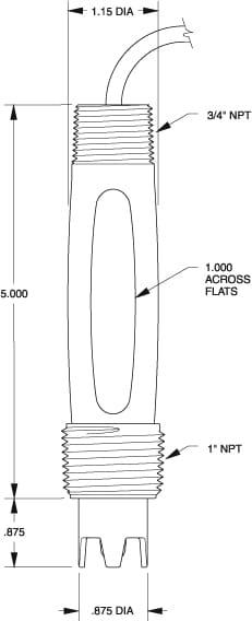 S405 ProcessProbe dimension drawing