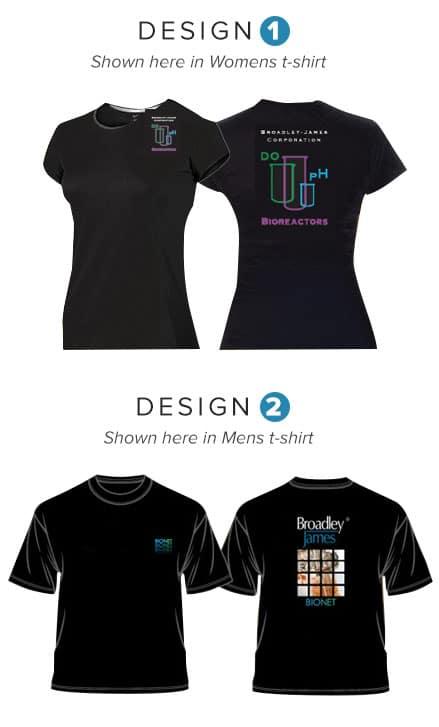 Complimentary Broadley James t-shirts